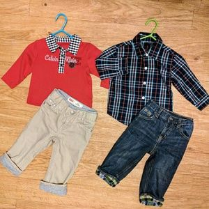 Handsome boy. 2 outfits 12-18 months